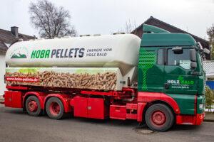 Hobal Pellets Lieferwagen